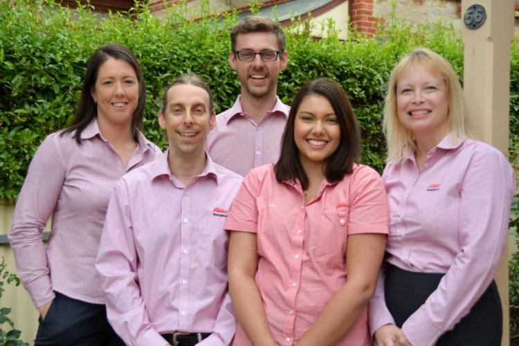 Elders insurance team members at Elders Insurance Adelaide and Hills office