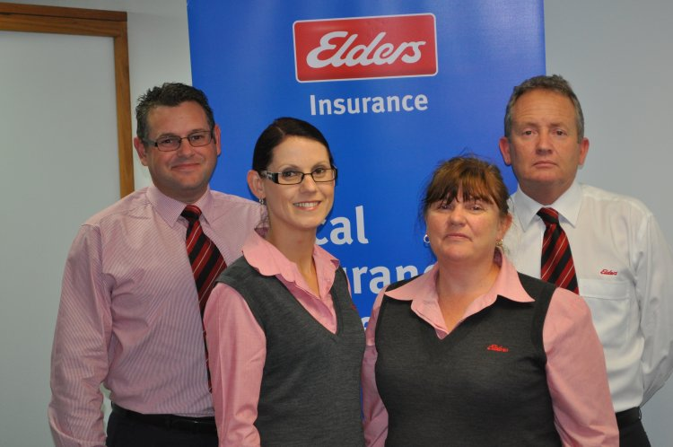 Elders insurance team members at Elders Insurance Albury Murray office