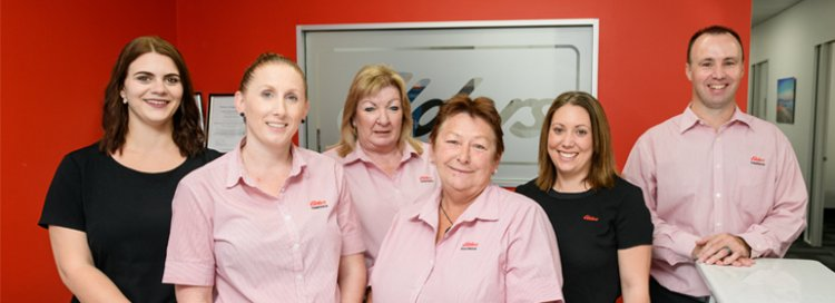 Elders insurance team members at Elders Insurance Bundaberg office
